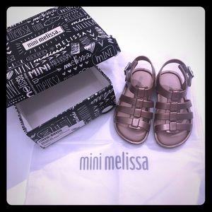 Mini Melissa size6 Rose Gold Flox Slingback Sandal